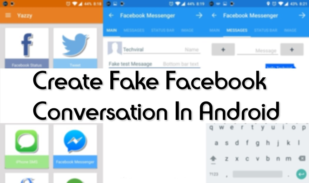 How To Make Fake Facebook Messenger Conversations On Android 8