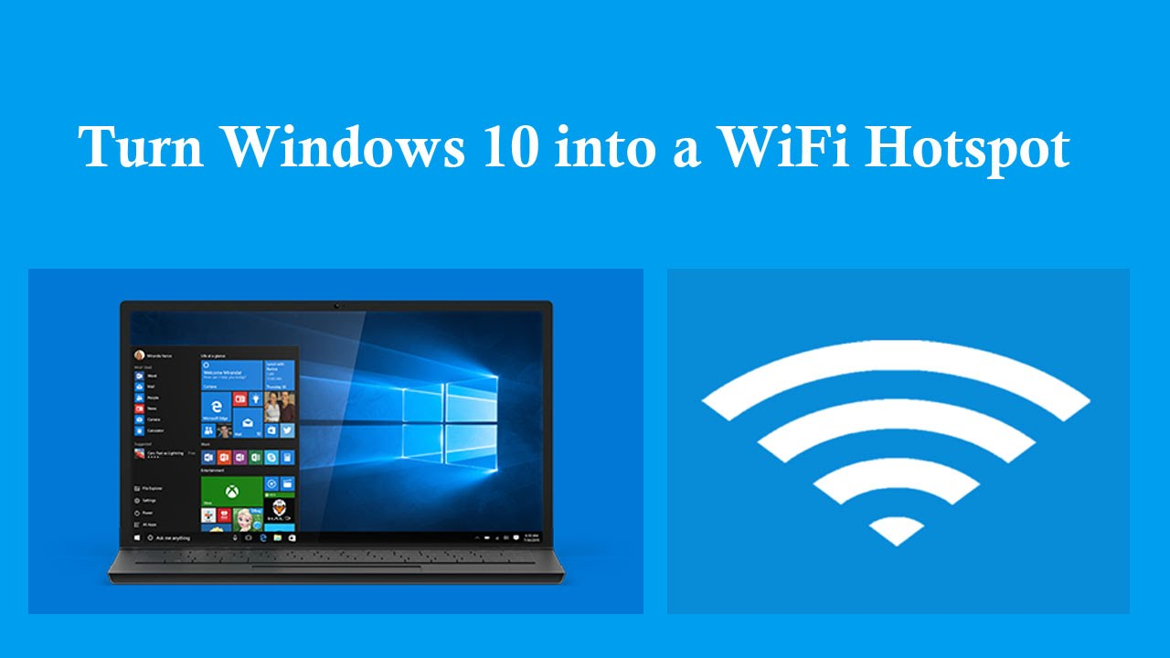 How to turn windows 10 pc into wifi hotspot without for Windows 10 pc