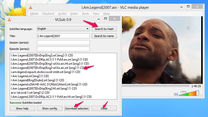 Download Subtitles From VLC