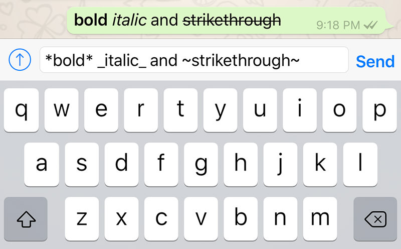 How To Get Bold, Italic, Strikethrough On WhatsApp 2