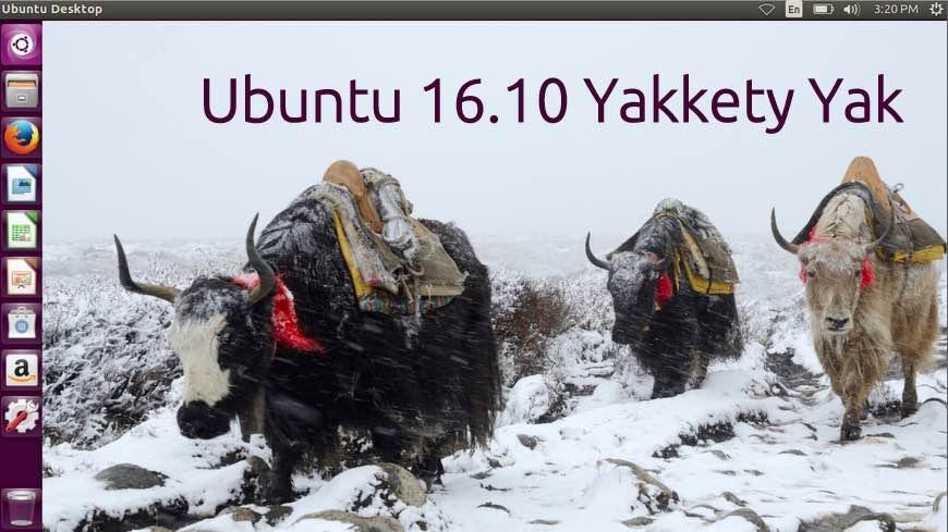 Ubuntu 16.10 Codename Yakkety Yak