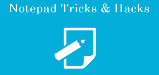 Cool Notepad Tricks And Hacks