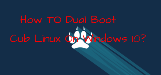 How TO Dual Boot Cub Linux On Windows 10