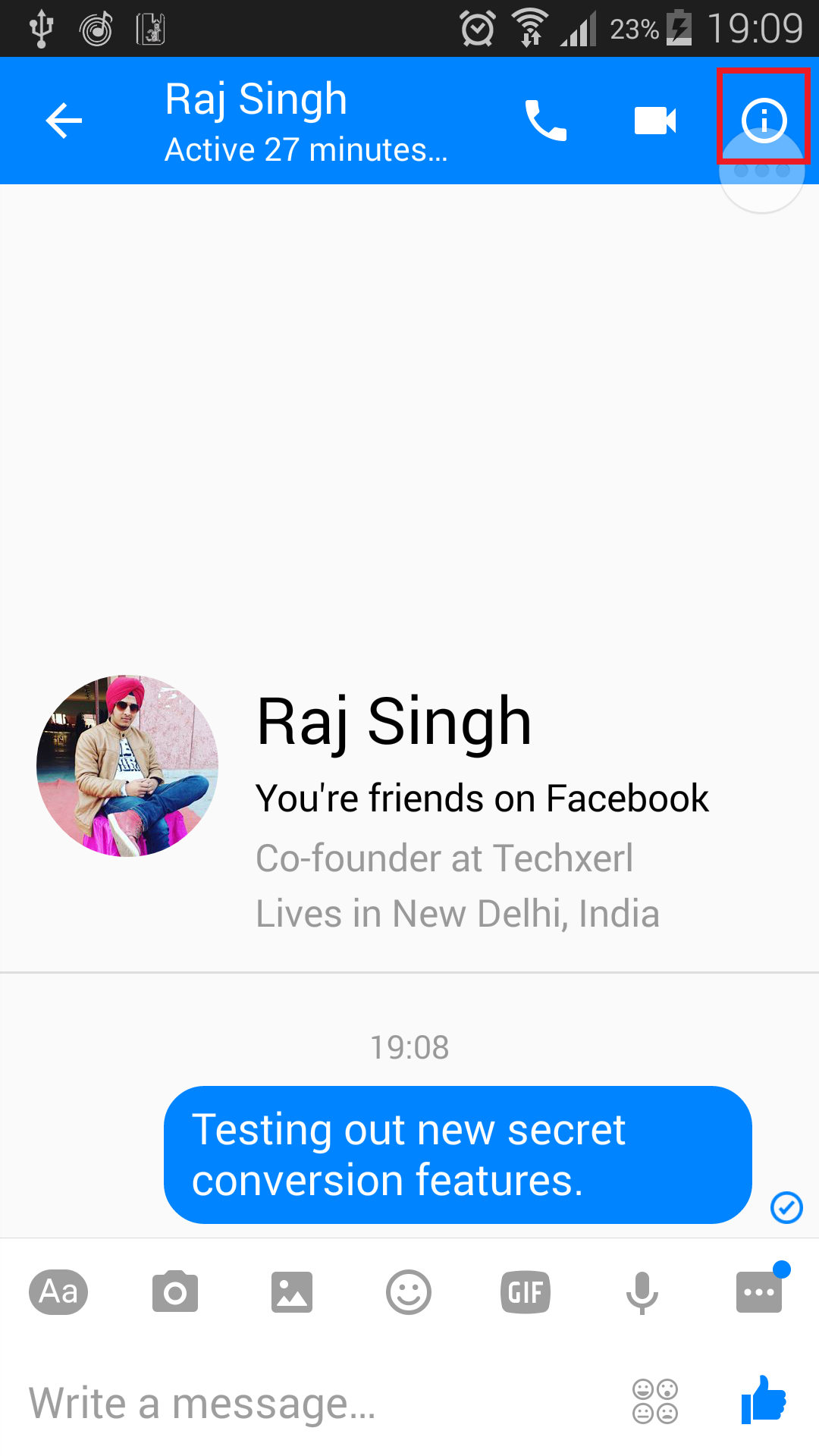 Facebook Encrypted messages