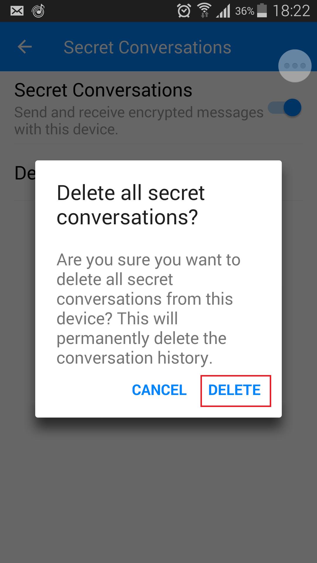 delete secret conversation 2