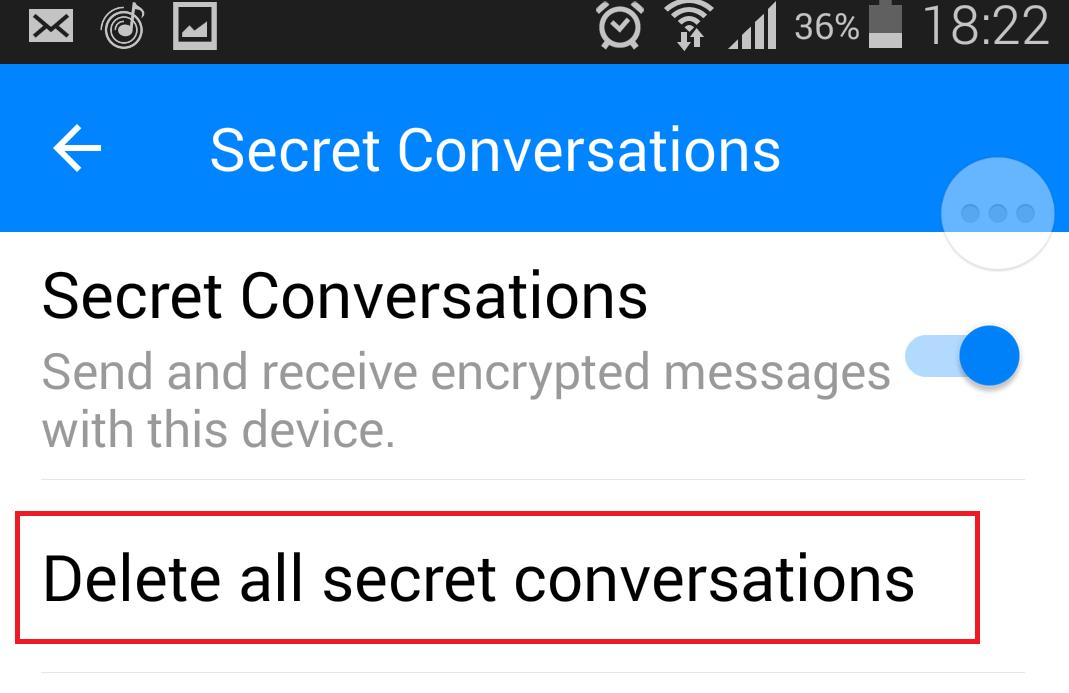 delete secret conversation