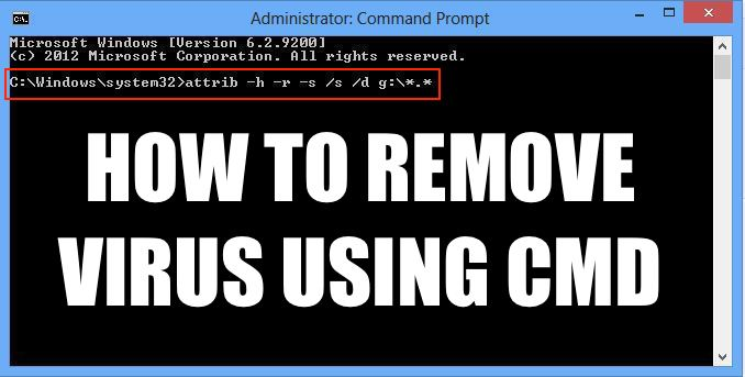 How To Remove Virus From Any Drive Using Command Prompt