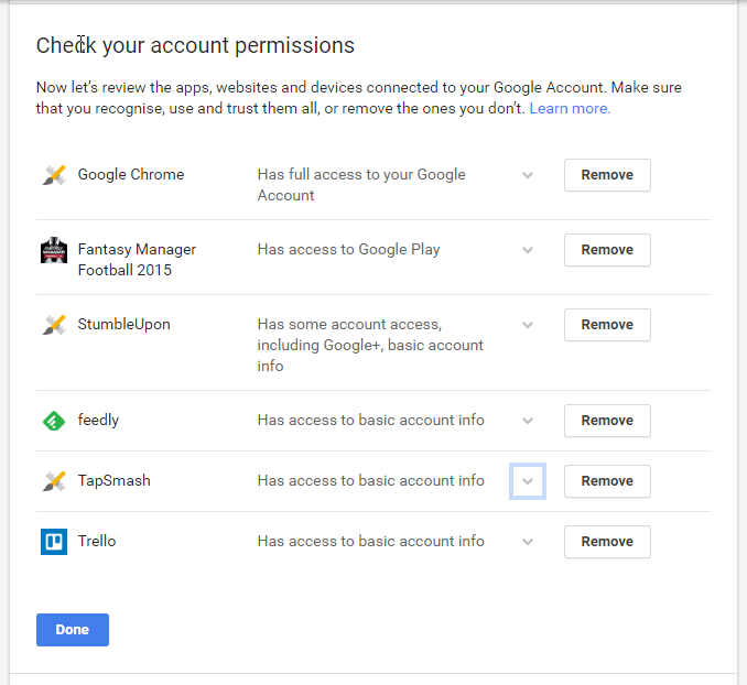 google-account-permisions