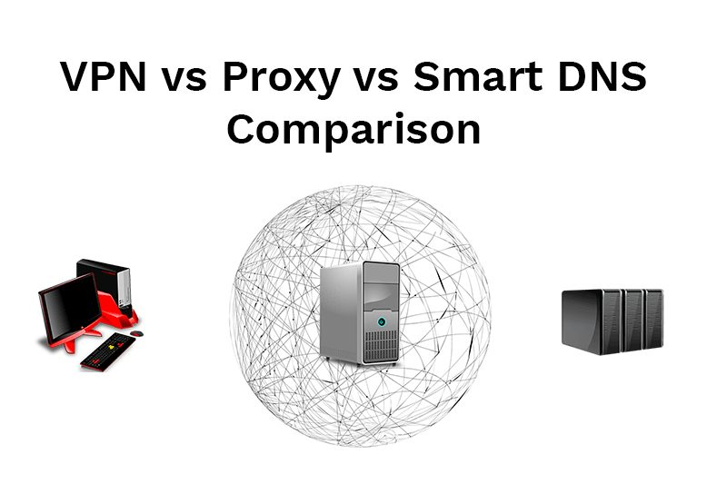 VPN vs Proxy vs Smart DNS